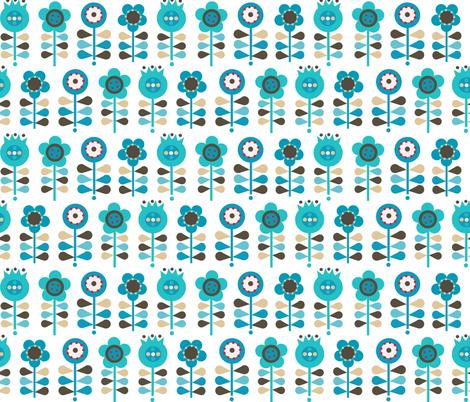 folk flower fabric by torysevas on Spoonflower - custom fabric
