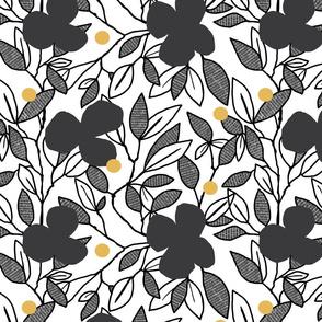 Pure Zen B&W Floral