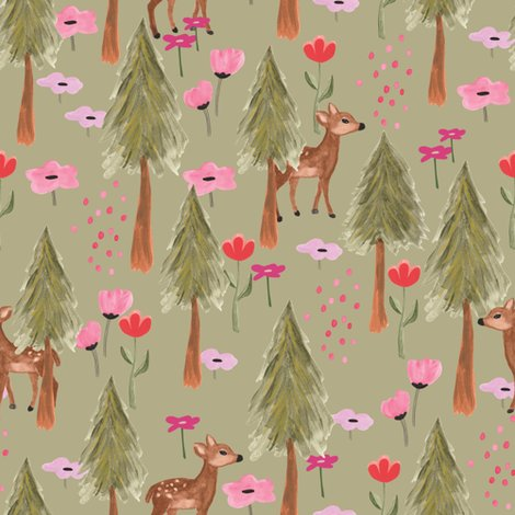 Rspoonflower_the-mountains-are-calling-deers_green_shop_preview