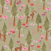 Rspoonflower_the-mountains-are-calling-deers_green_shop_thumb