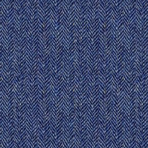 tweedy navy herringbone
