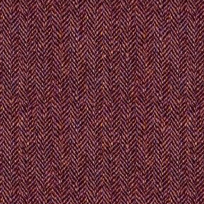 faux tweedy garnet red herringbone