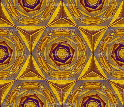 Star Mosaic Pattern Fabric 2