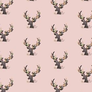 "1.75"" Autumn Deer in Dusty Muted Pink"