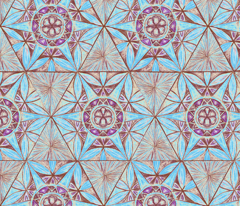 Flower of Life Star Pattern fabric by cveti on Spoonflower - custom fabric