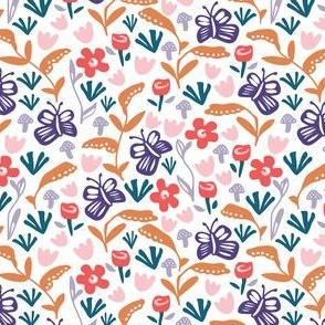 Butterfly garden purple