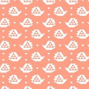 hedgehog - peach