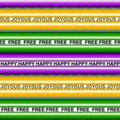 Happy Joyous Free Mardi Gras Stripe