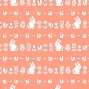 folksy meadow - peach
