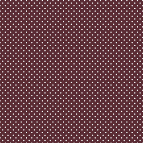 Maroon Out Polka Dots