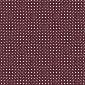 Maroon Out Polka Dots