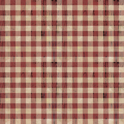 Mini Size-Buffalo Plaid Rustic Red fabric by sarah_treu on Spoonflower - custom fabric
