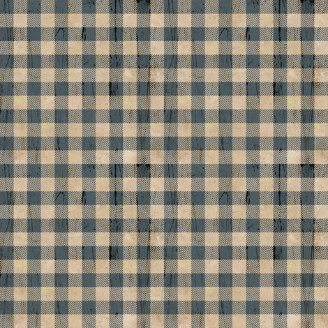 Mini size-Buffalo Plaid Earthy Blue fabric by sarah_treu on Spoonflower - custom fabric