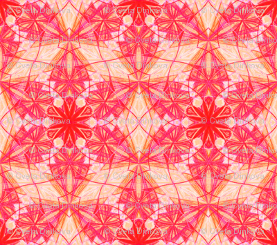 Flower of Life Pattern Fabric Pink