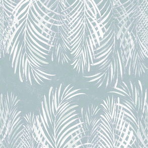 Linear Palms Faded Teal 200