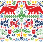 Swedish Folk Art Dinosaurs