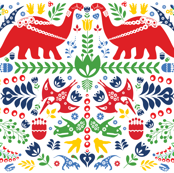 Swedish Folk Art Dinosaurs