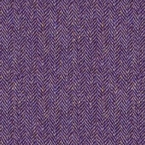 faux tweedy plum herringbone