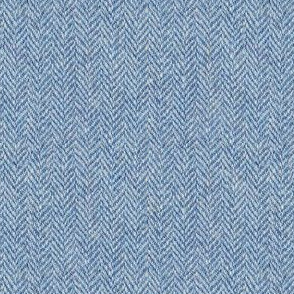 faux tweedy light blue herringbone