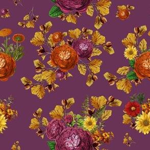 """7"""" AUTUMN BOOK FLOWERS / MUTED MERLOT"""
