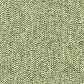 faux tweedy moss green herringbone