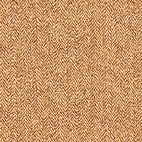 faux tweedy red-gold herringbone