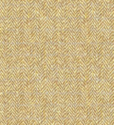 faux tweedy golden tan herringbone