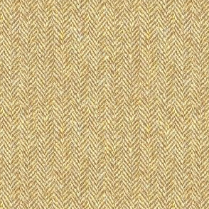 faux tweedy golden tan herringbone