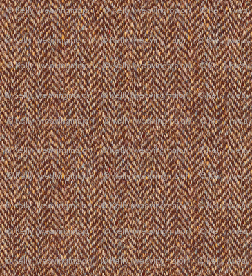 faux tweedy chestnut-brown herringbone