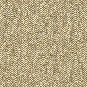 faux tweedy tan herringbone