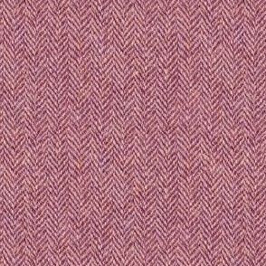 faux tweedy light red herringbone