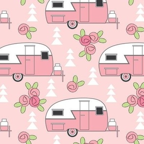 pink trailers-with-rosebuds-on-pink