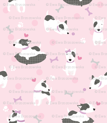 Bullterriers - pink dogs
