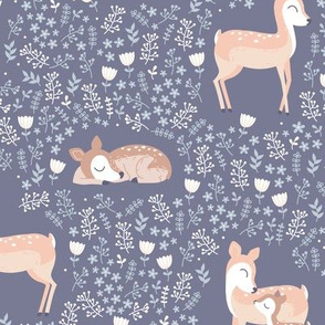 Love you Deer - light violet purple