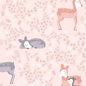 Love you Deer - pink coral