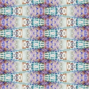 ETHNIC PURPLE BROWN SWEET WATERCOLOR STRIPES GEOMETRY