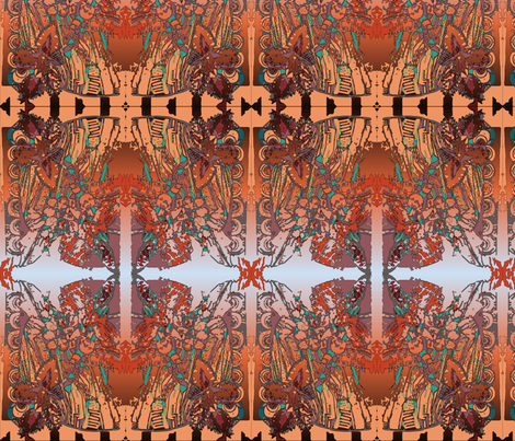 Canna 3 fall colors fabric by dssheck on Spoonflower - custom fabric