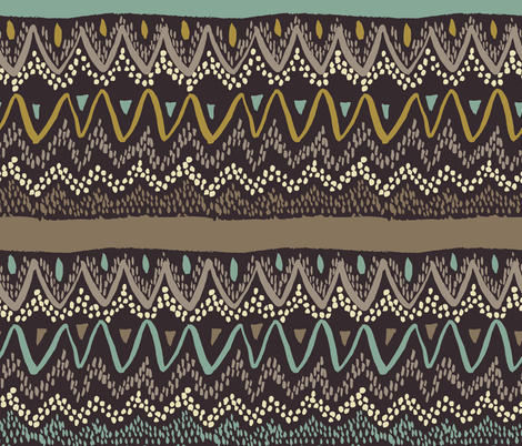 Boho - Neutral Browns fabric by scarlette_soleil on Spoonflower - custom fabric