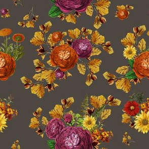 """7"""" AUTUMN BOOK FLOWERS / MUTED BROWN"""