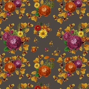 """4"""" AUTUMN BOOK FLOWERS / MUTED BROWN"""