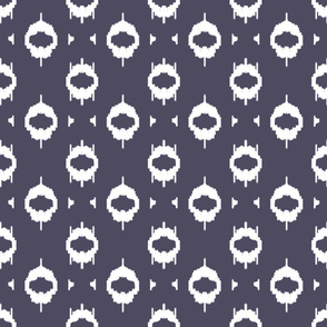 Ikat Blue Gray Upholstery Fabric
