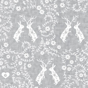 Romantik love story (grey linen)