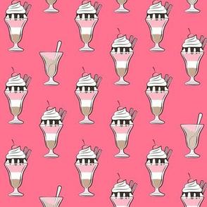 ice-cream sundae (dark pink)