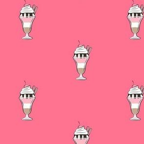 ice-cream sundae single (dark pink)