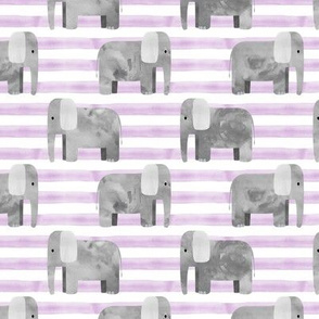 elephants - purple stripes
