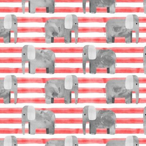 elephants - red stripes