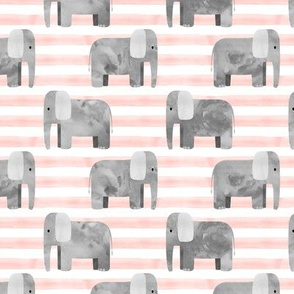 elephants - pink stripes