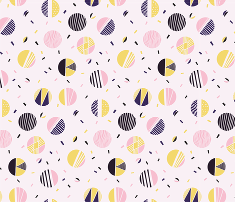 Memphis_2 fabric by blacklambstudio on Spoonflower - custom fabric