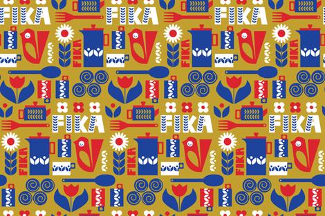 Fika fabric by bashfulbirdie on Spoonflower - custom fabric