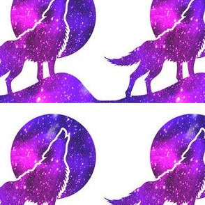 1 glitter sparkles stars universe galaxy cosmic cosmos planets nebula watercolor effect wolf wolves dogs howling moon animals silhouette purple blue violet